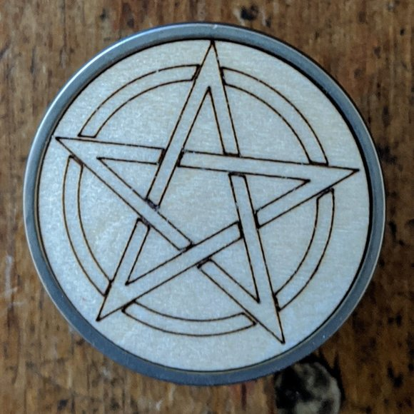 handcrafted Other - Pentacle Drawer Knobs Pull set of 2 handmade